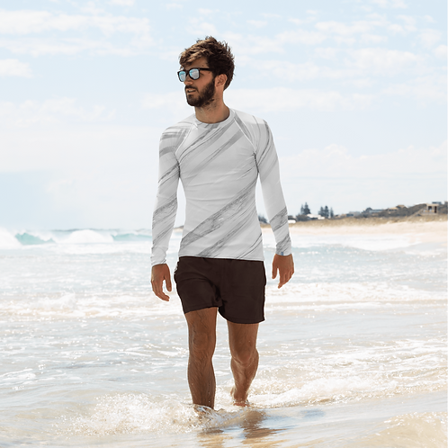 Zero Waste - Men's Rash Guard ( Ocean Silver )