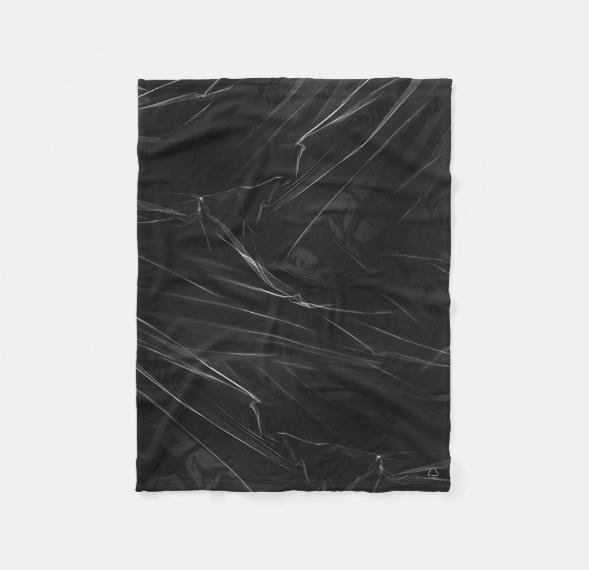 Throw Blanket Ocean Black