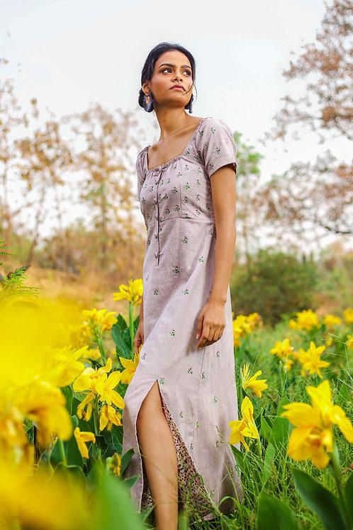 Lilac Double Slit Dress