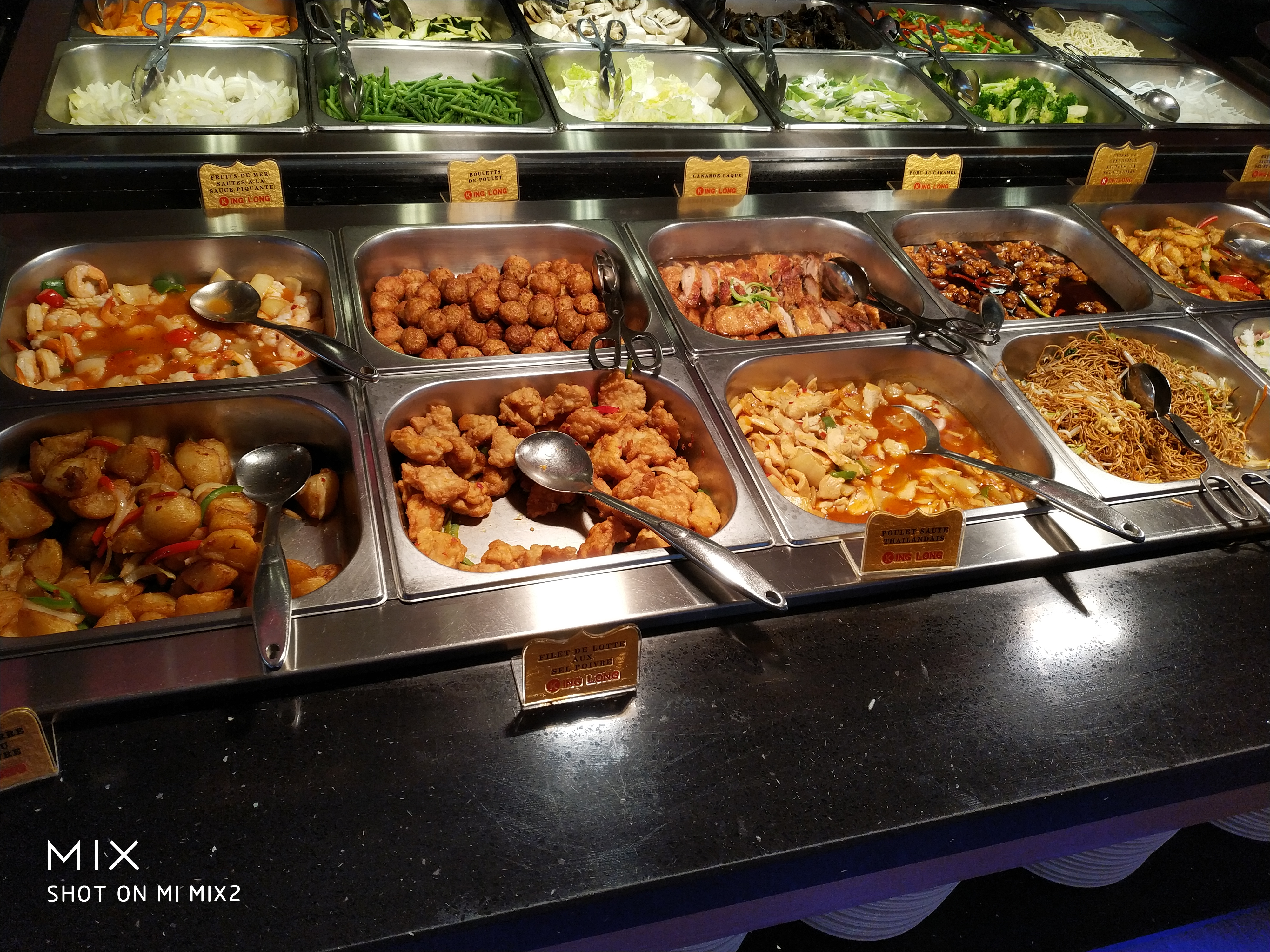 King Long 16 buffet à volonté