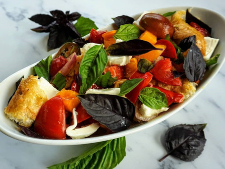 Calabrian Pesto Panzanella Salad