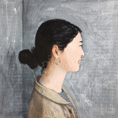 "Антонина Сотникова ""Girl by the grey wall"""