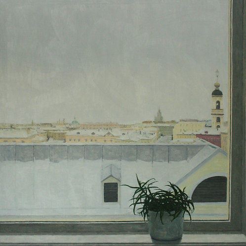 """Алла Полковниченко """"Алоэ на окне. Зима."""""""