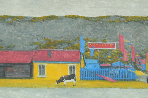 """Алла Полковниченко """"Осень во внутренней Монголии. Разноцветные флажки."""""""