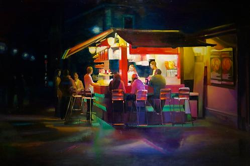 "Александра Маклакова ""Ночь идет. Открытое кафе"""
