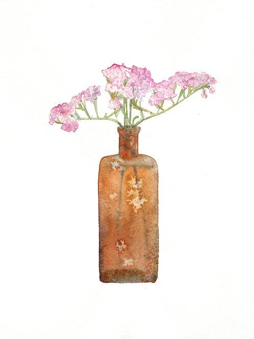 "Антонина Сотникова ""Бутылка с сухими цветами"""