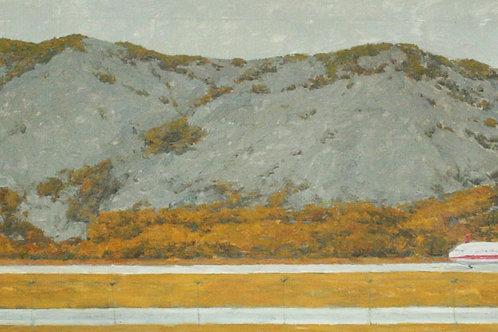"""Алла Полковниченко """"Осень во внутренней Монголии. Самолет в горах."""""""""""