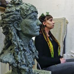 Скульптурный портрет Наташи
