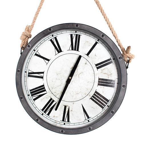 Reloj de Pared Gris con Cuerda