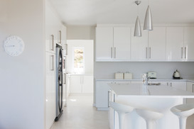 Fulham family kitchen by cabinets by IKEA.