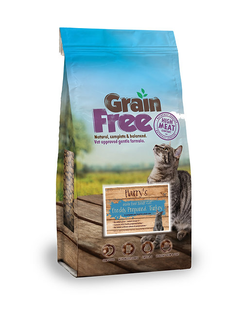 Harry's Grain Free Turkey for Adult Cats 2kg