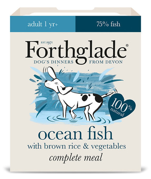 FORTHGLADE OCEAN FISH BROWN RICE AND VEG 395G x 18