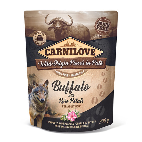 Carnilove Dog Pouch Buffalo with Rose Petals 300g