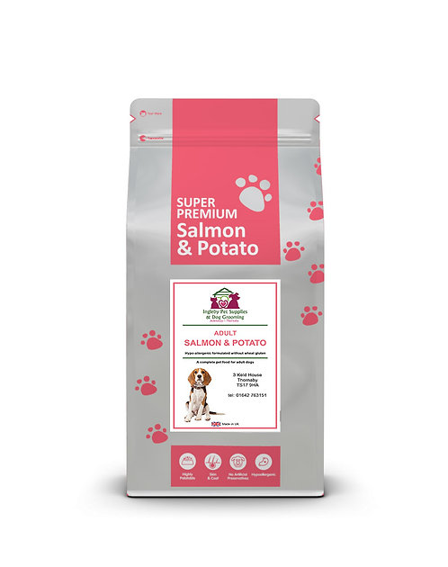 Ingleby Pet Supplies Super Premium Adult Dog Food Salmon & Potato 12kg