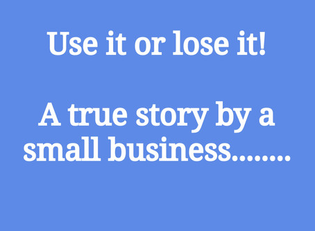 Use it or lose it......a true story.