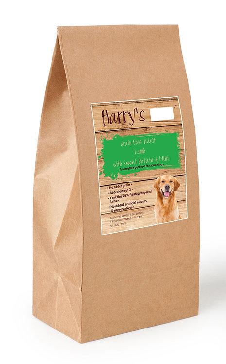Harry's Grain Free Dog Food Lamb with Sweet Potato & Mint 12kg
