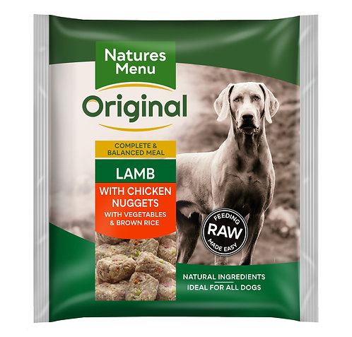 Natures Menu Frozen Nugget Lamb 1kg