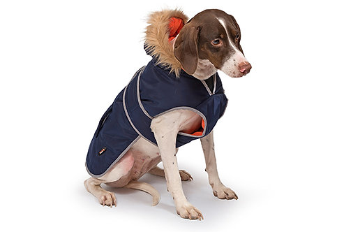 Ancol Navy Parka Dog Coat