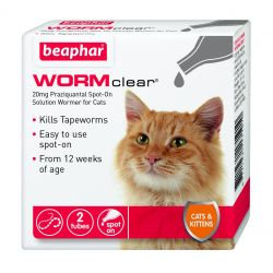 Beaphar Wormclear Spot On for Cats