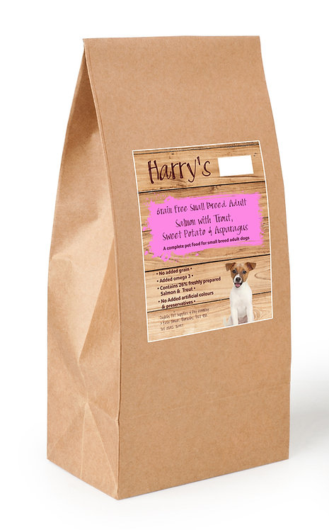Harry's Grain Free Dog Food Small Breed Salmon with Sweet Potato & Asparagus  2kg