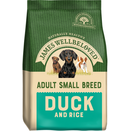 James Wellbeloved Small Breed Duck & Rice Adult 7.5kg