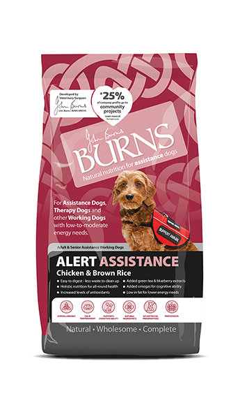 Burns Alert Chicken & Brown Rice Dog Food 2kg