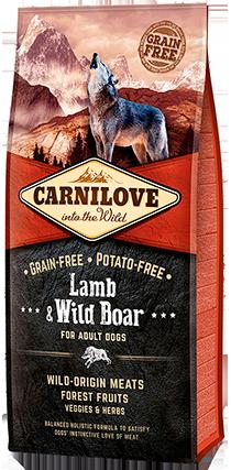 Carnilove Lamb & Wild Boar Adult Dog Food 12kg