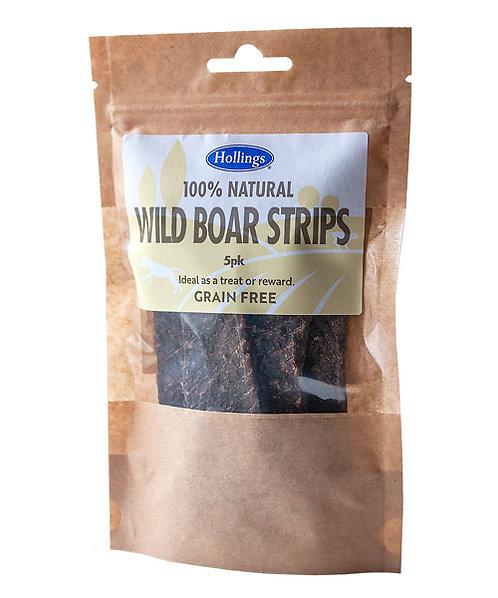 Hollings 100% Natural Wild Boar Strips 5 pack