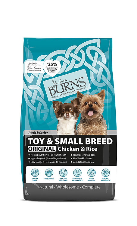 Burns Toy & Small Breed Chicken Dog Food 6kg