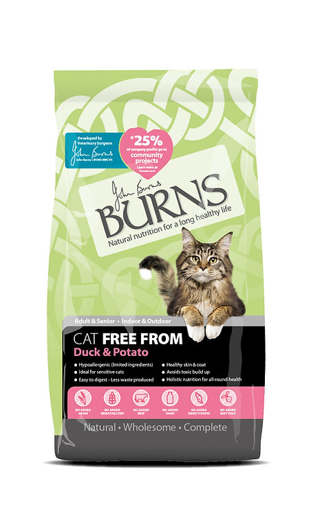 Burns Free From Cat Food