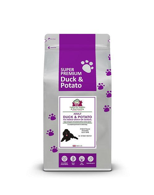 Ingleby Pet Supplies Super Premium Dog Food Duck & Potato 12kg
