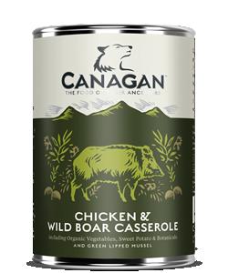 Canagan Wet Dog Food Chicken & Wild Boar Casserole 400g x 6
