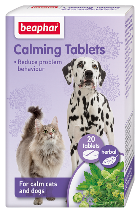 Beaphar Calming Tablets for Dogs & Cats 20 Tablets