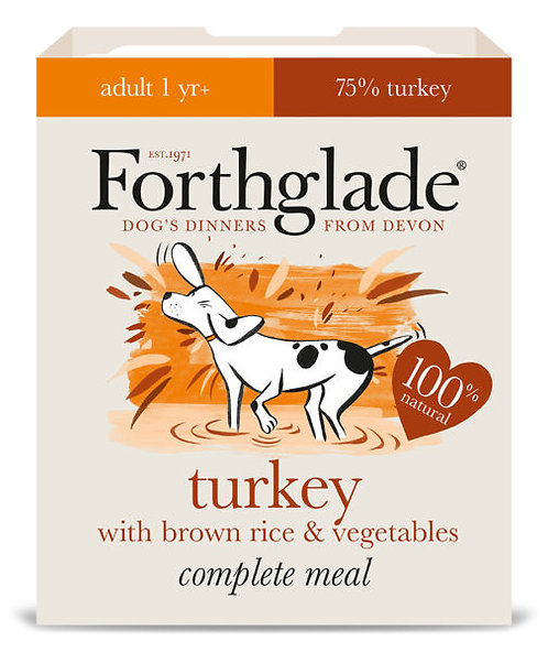 FORTHGLADE TURKEY BROWN RICE AND VEG 395G x 18
