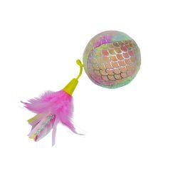 Happy Pet Mermaid Ball Cat Toy Pink
