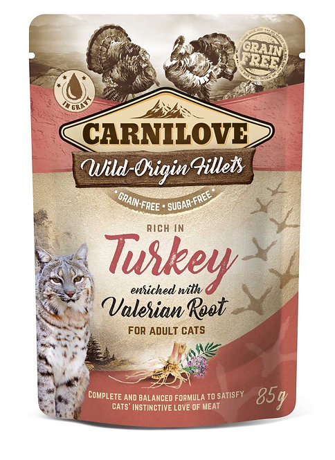 Carnilove Cat Pouch Turkey with Valerian 85g