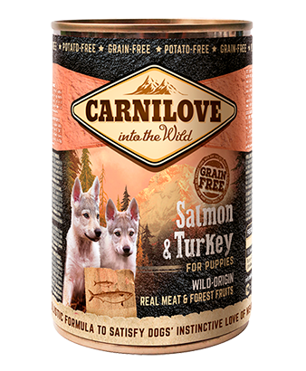Carnilove Salmon & Turkey Wet Puppy Food 400g x 6