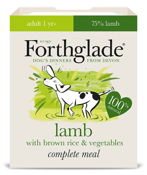 FORTHGLADE LAMB BROWN RICE AND VEG 395G x 18
