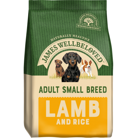 James Wellbeloved Small Breed Lamb & Rice Adult 7.5kg
