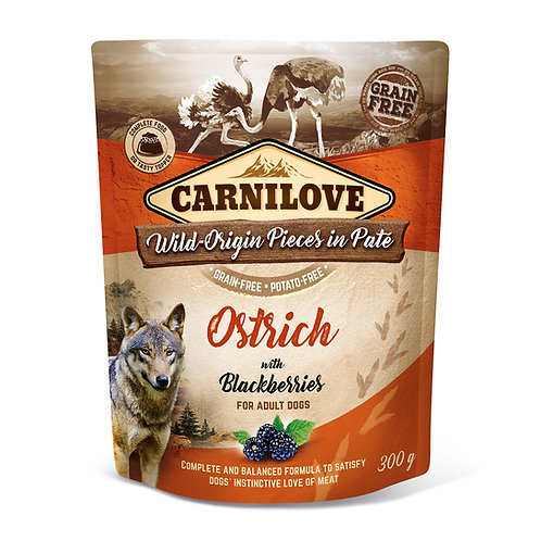 Carnilove Dog Pouch Ostrich with Blackberries 300g