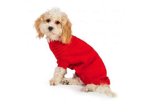 Ancol Cable Knit Dog Jumper Red