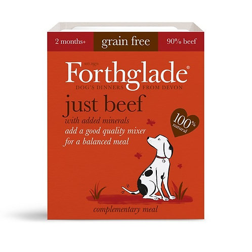FORTHGLADE JUST BEEF 90% MEAT GRAIN FREE 18 X 395G