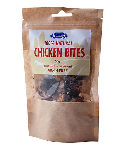 Hollings 100% Natural Chicken Bites 60g