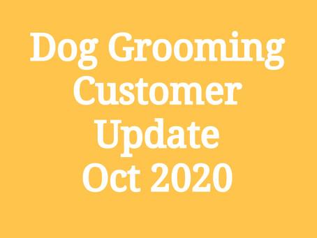 Grooming Customer Update - Oct 2020.