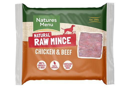 Natures Menu Frozen Minced Chicken & Beef 12 x 400g