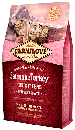 Carnilove Salmon & Turkey Kitten Food 2kg