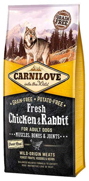Carnilove Fresh Chicken & Rabbit Dog Food 12kg