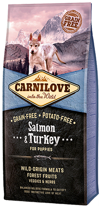 Carnilove Salmon & Turkey Puppy Food 1.5kg