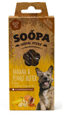 Soopa Dental Sticks Banana (4pk)