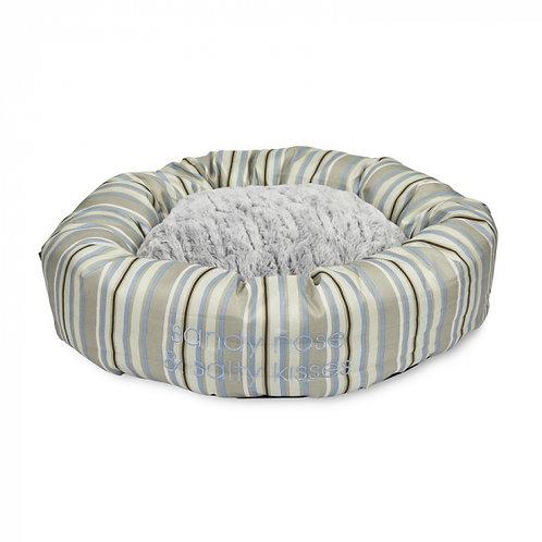 Sandpiper Stripe Round Dog Bed